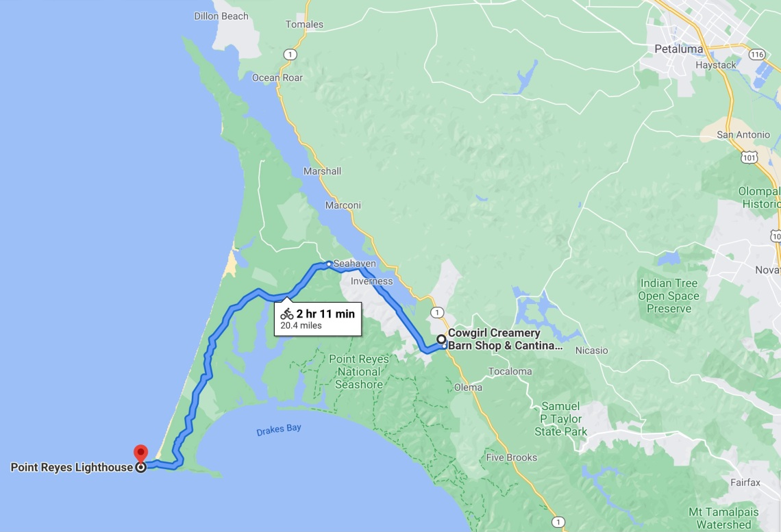 west marin cycle route
